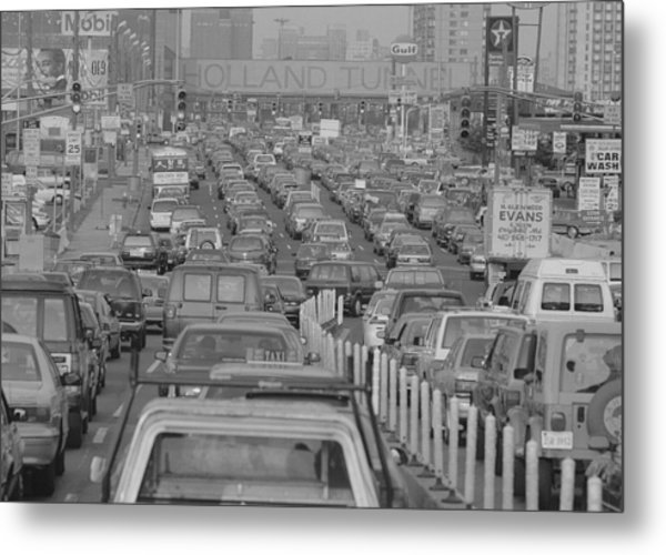 Fathers Day Traffic At The Holland Metal Print by New York Daily News Archive
