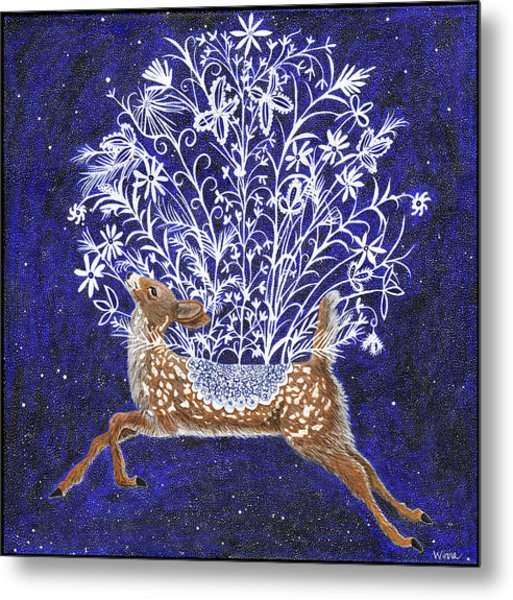 Fawn Bouquet Metal Print