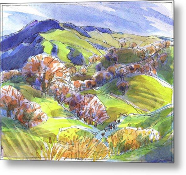 February Landscape With Mount Diablo Metal Print