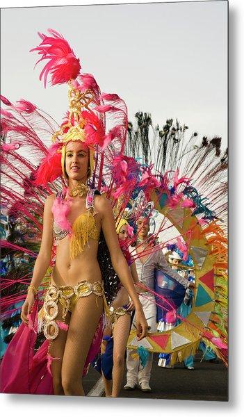 Female Dancer At The Carnival Parade Metal Print