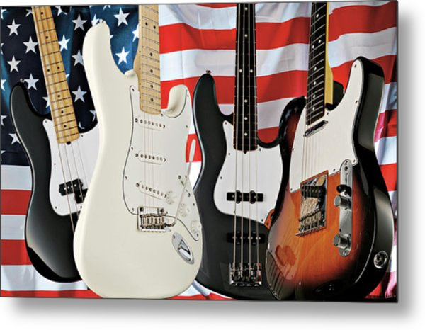Fender 2008 American Standard Series Metal Print by Guitarist Magazine