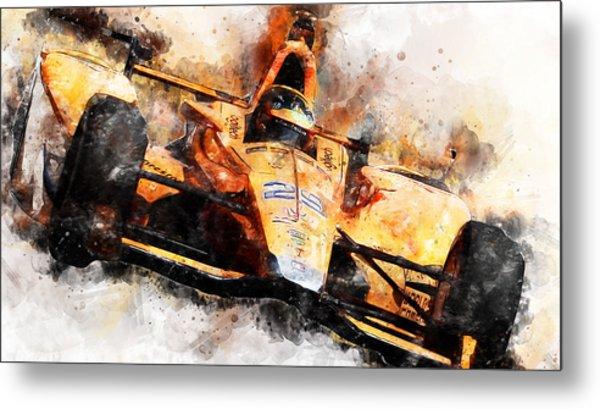 Fernando Alonso, Indy 500 - 04 Metal Print