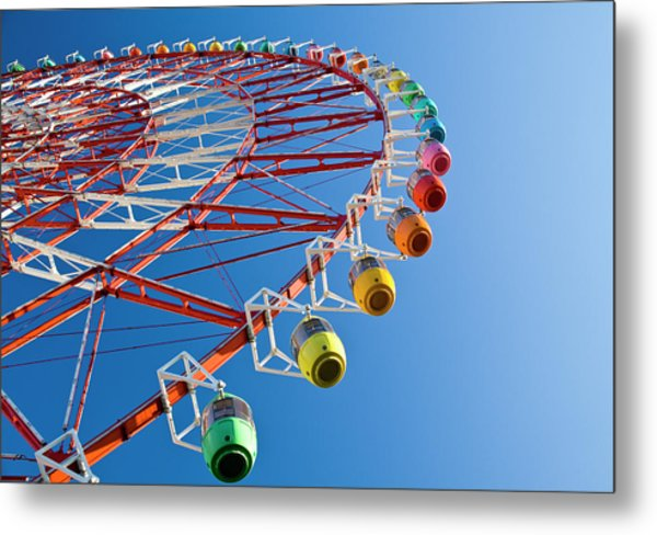 Ferris Wheel Metal Print by St Yeo