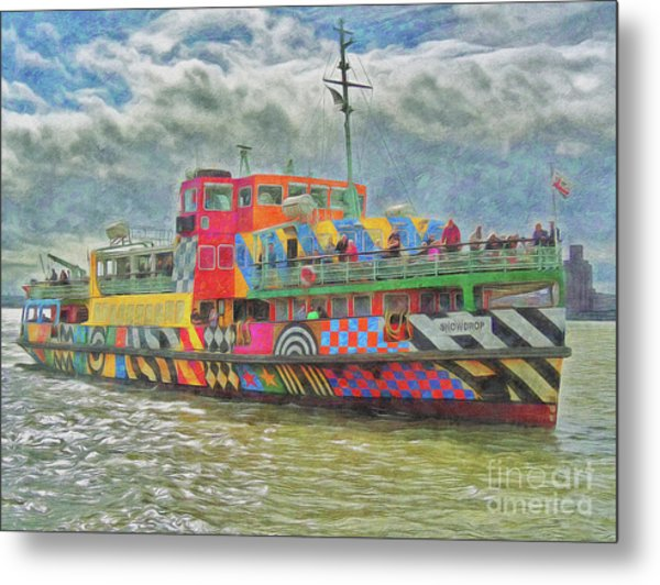 Metal Print featuring the photograph Ferry Across The Mersey by Leigh Kemp