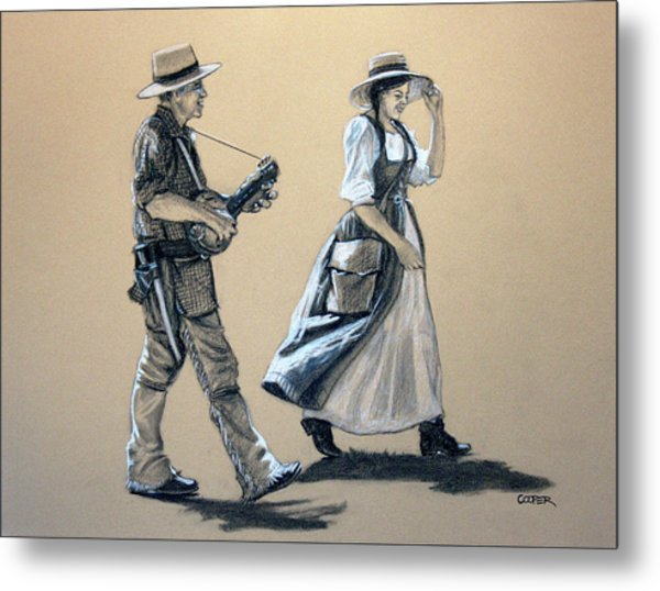 Fiddler's Daughter Metal Print