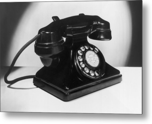 Fifties Telephone Metal Print by Fox Photos