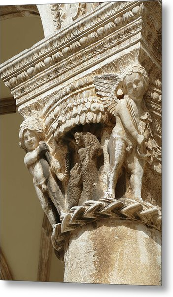 Figures On Capitals Of The Rector's Palace Metal Print