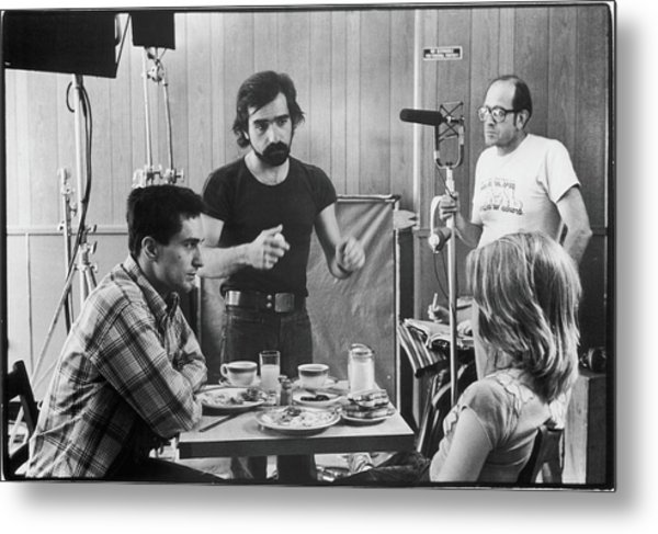 Filming Taxi Driver Metal Print by Fred W. McDarrah