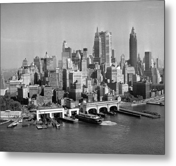 Financial District Cityscape Metal Print by Fpg
