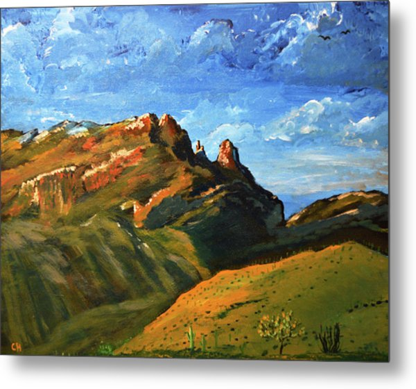 Metal Print featuring the painting Finger Rock Splendor  by Chance Kafka