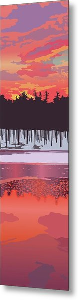Fire And Ice Metal Print by Marian Federspiel