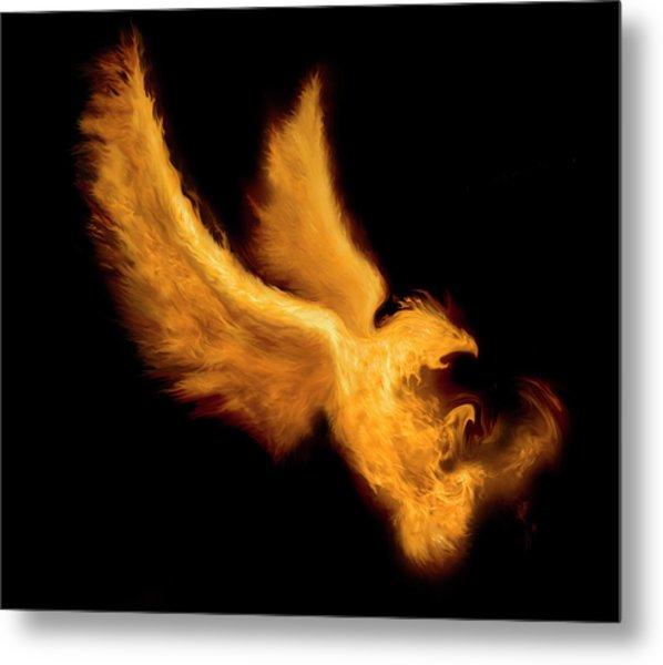 Fire Bird Metal Print by -asi