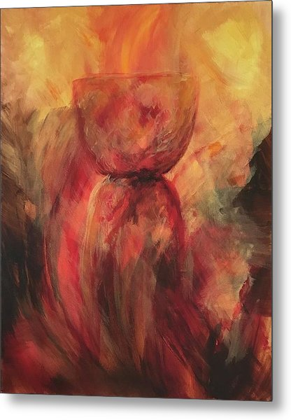 Metal Print featuring the painting Fire Earth Latte Stone by Michelle Pier