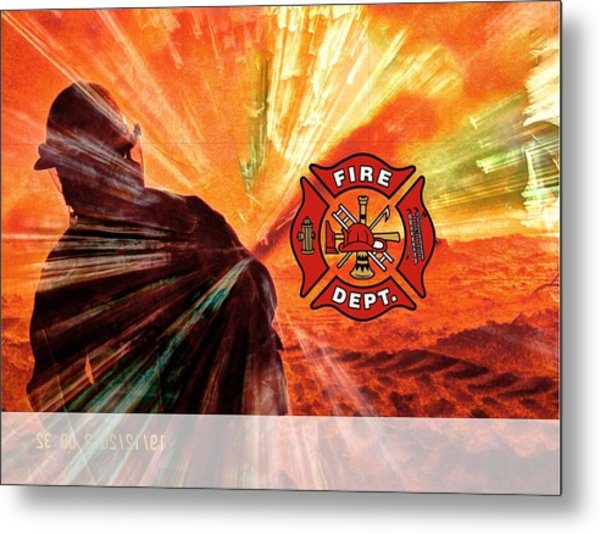 Fire Fighting 1 Metal Print