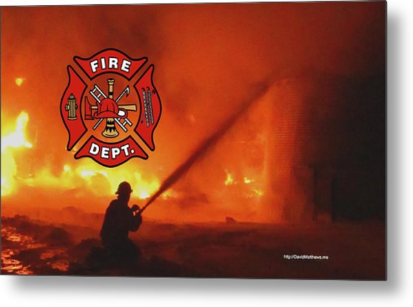Fire Fighting 5 Metal Print