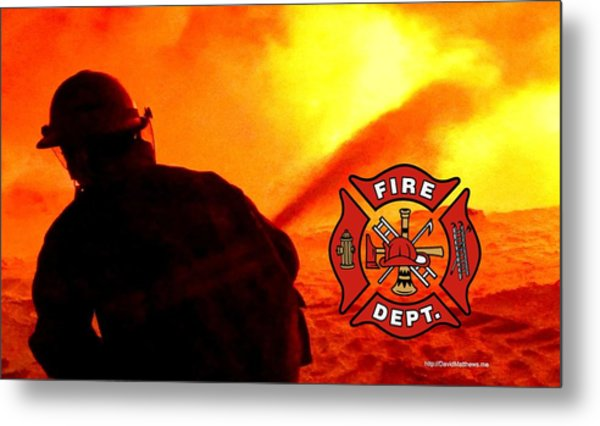 Fire Fighting 6 Metal Print