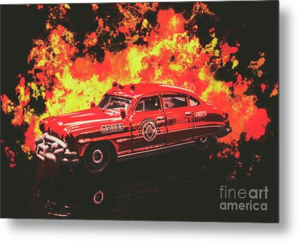 Fire Hornet Metal Print