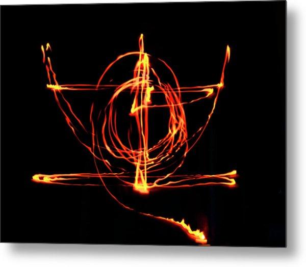 Fire Light Drawing Metal Print