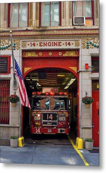 Fire Station, Gramercy District, New Metal Print