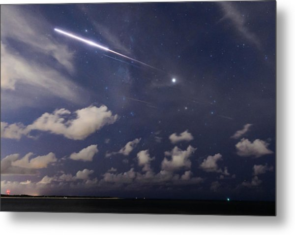 Fireball In The Sky Metal Print