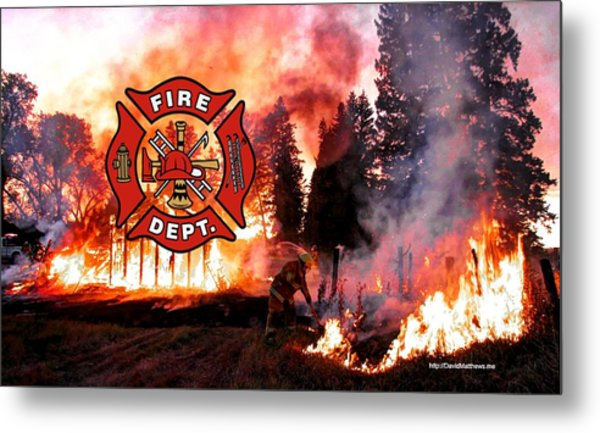 Firefighting 2 Metal Print