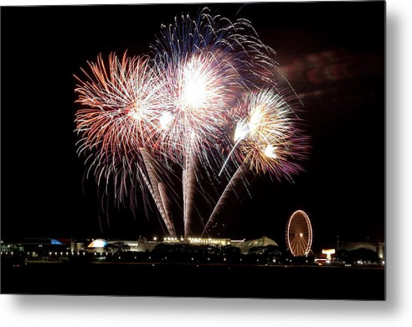 Fireworks In Chicago Metal Print