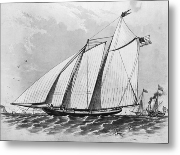 First Americas Cup Metal Print by Hulton Archive