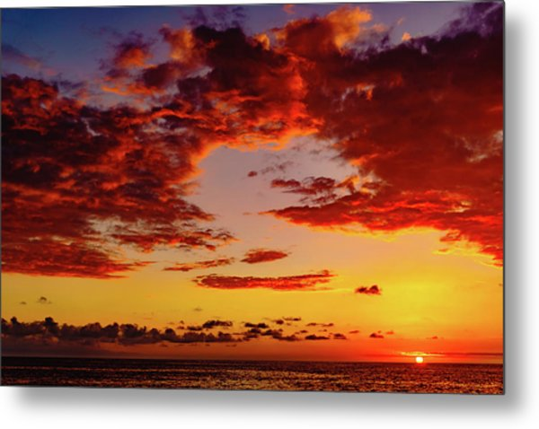 First November Sunset Metal Print