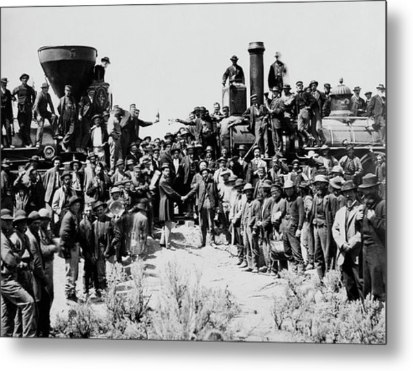 First Opening Of The Transcontinental Railroad - 1869 Metal Print