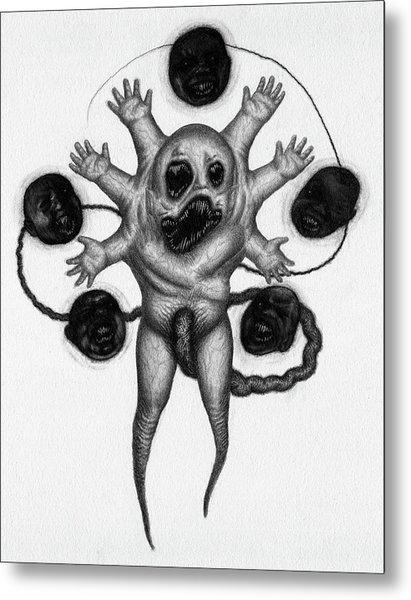 Firstborn Of The Nursery Wing - Artwork Metal Print