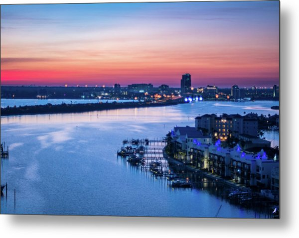 Firstlight Over Clearwater Metal Print