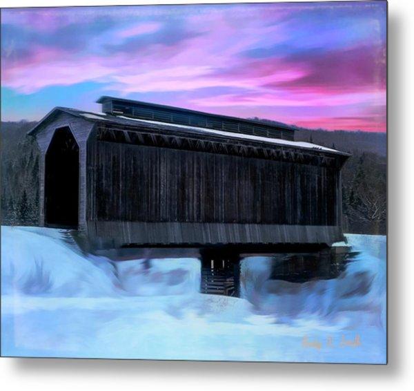Fisher Raiilroad Covered Bridge Wolcott Vermont. Metal Print