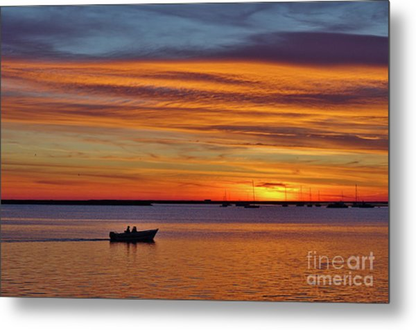 Fisherman's Return Metal Print
