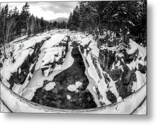 Metal Print featuring the photograph Fisheye View, Rocky Gorge Nh by Michael Hubley