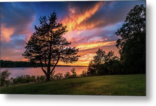 Fishing At End Of Day Metal Print