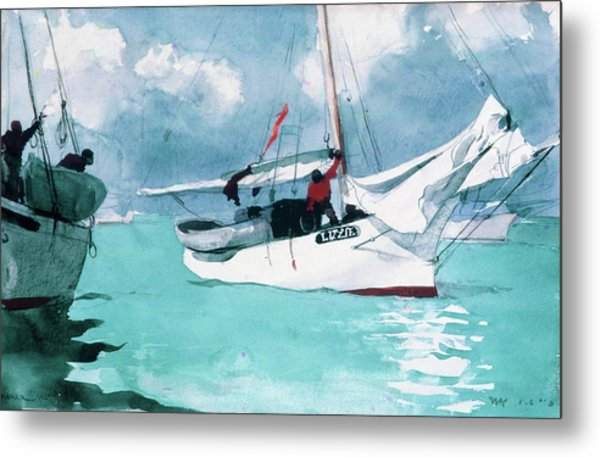 Fishing Boats, Key West - Digital Remastered Edition Metal Print
