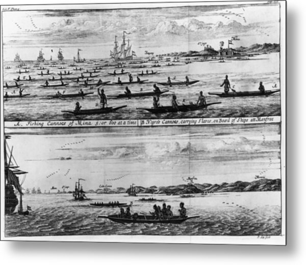 Fishing Canoes Metal Print by Fotosearch