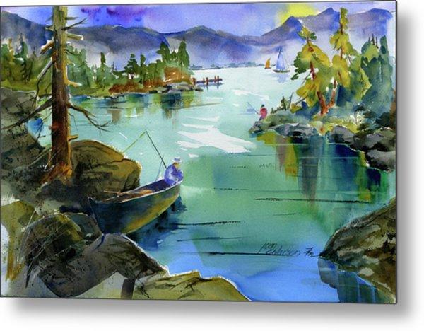 Fishing Lake Tahoe Metal Print