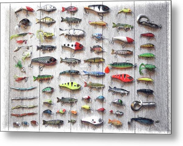 Fishing Lures - Dwp2669219 Metal Print