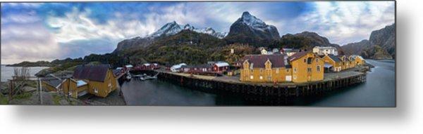 Fishing Village A On Lofoten Metal Print