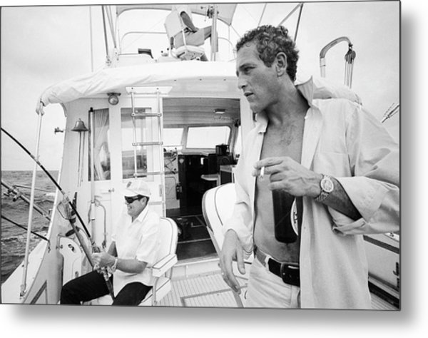 Fishing With Paul Newman Metal Print