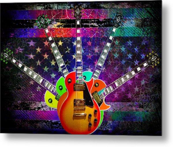 Five Guitars Metal Print