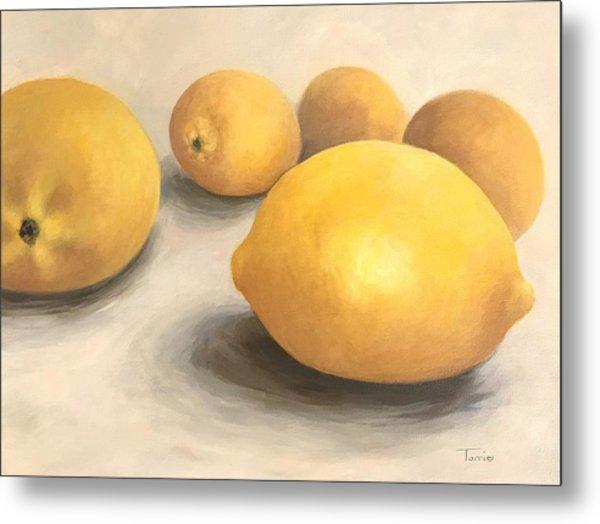 Five Lemons  Metal Print