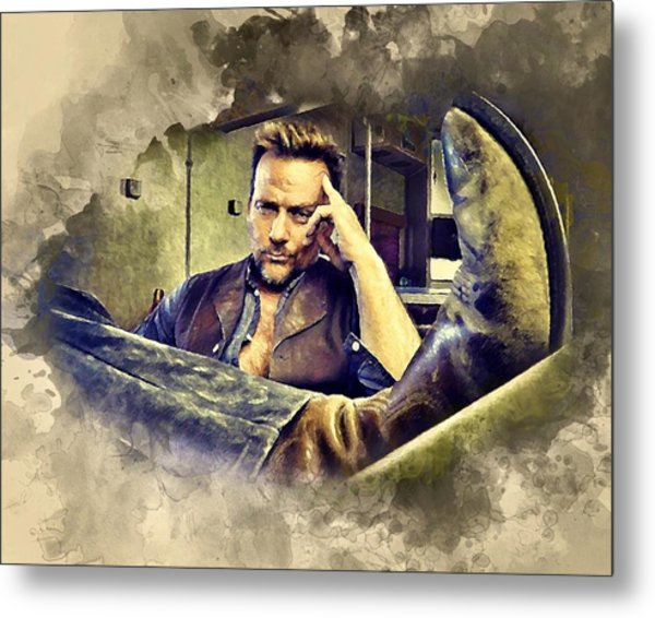 Flanery And His Cowboy Boot Metal Print