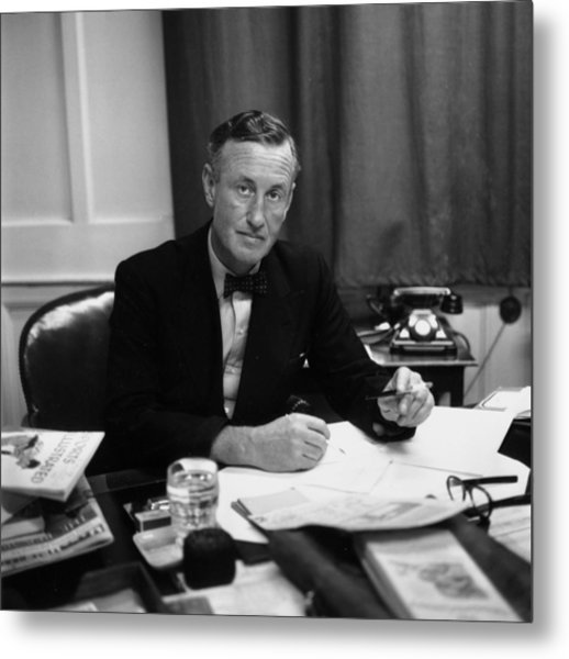 Fleming At Desk Metal Print by Express