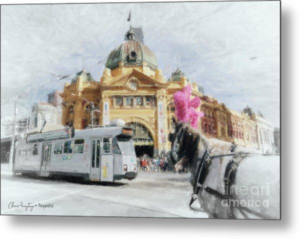 Flinders Street Station, Melbourne Metal Print