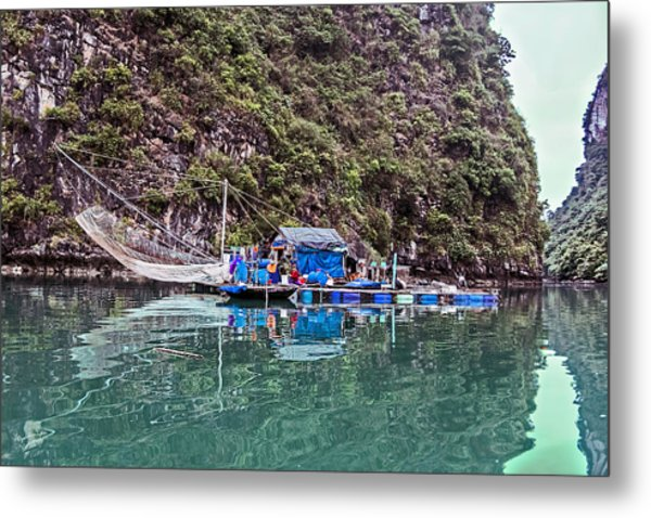 Floating Market - Halong Bay, Vietnam Metal Print