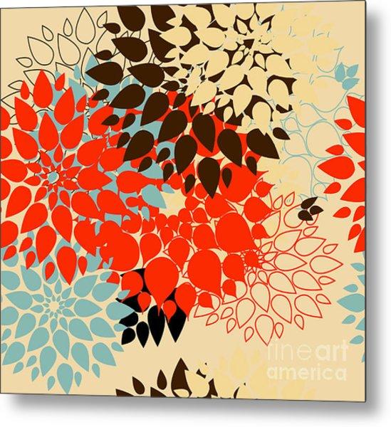 Floral Background. Summer Colour Metal Print