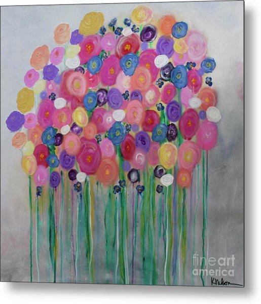 Floral Balloon Bouquet Metal Print