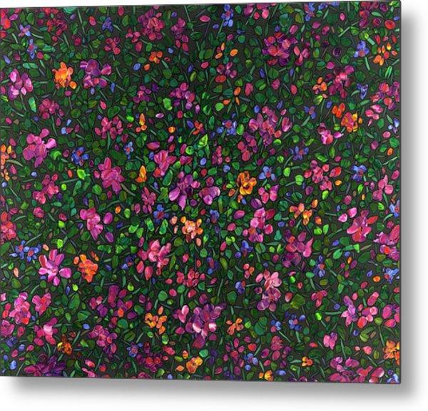 Floral Interpretation - Weedflowers Metal Print